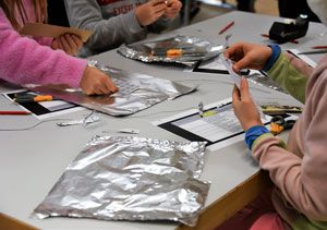 ICS Grade 4 Students Explore Different Materials to Create Form