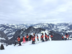 Skiing the Giant Slalom in Gstaad