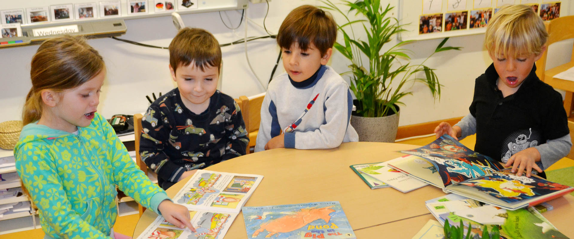 preschool/kindergarten/early years students learning english supported by the english as an additional language (EAL) programme, international school