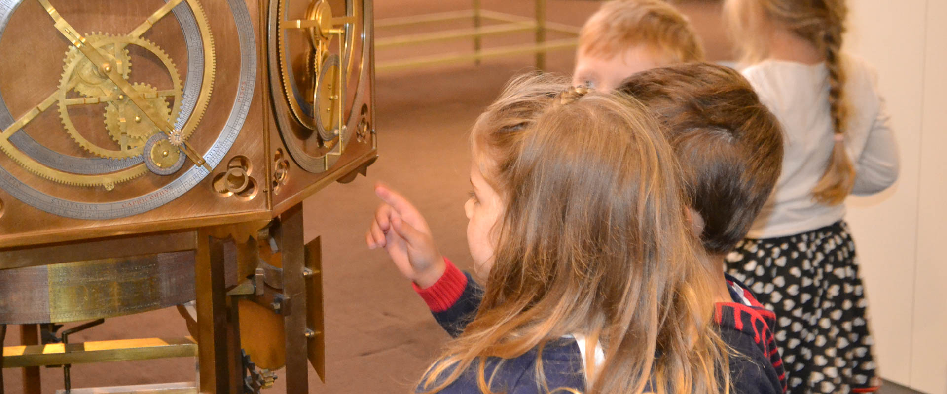 primary school students at the clock and watch museum zurich, international school
